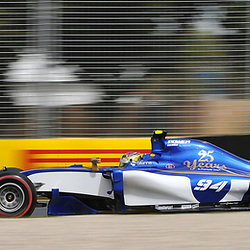 Pascal Wehrlein, Sauber F1 Team.<br /> <br /> Round 1 - 2nd day of the 2017 Formula 1 Rolex Australian Grand Prix at The circuit of Albert Park, Melbourne, Victoria on the 24th March 2017.<br /> Wayne Neal | SportPix.org.uk