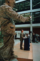 13 SEP 1999, BERLIN/GERMANY:<br /> Franz Müntefering, SPD Bundesgeschäftsführer, während einer Pressekonferenz zur SPD Präsidiumssitzung, Willi-Brand-Haus<br /> IMAGE: 19990913-03/01-05<br /> KEYWORDS: Franz Muentefering