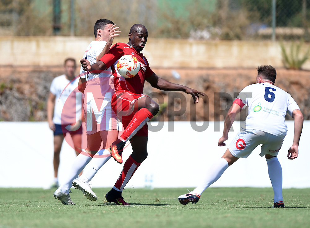 Arnold Garita of Bristol City holds the ball up  - Mandatory by-line: Joe Meredith/JMP - 22/07/2016 - FOOTBALL - La Manga Training Ground - La Manga, Murcia - UCAM v Bristol City - Pre-season friendly