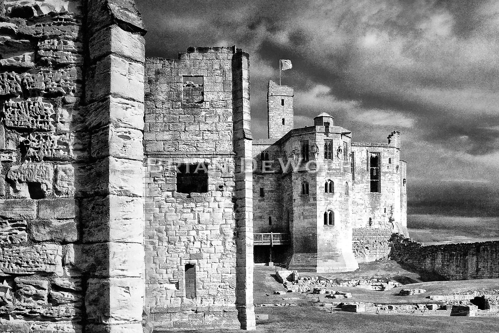 "Warkworth Castle is the scene from Shakespeare's Henry IV: ""this worm-eaten hold of ragged stone, where Hotspur's father, old Northumberland, lies crafty-sick"".   Aspect Ratio 1w x 0.667h"