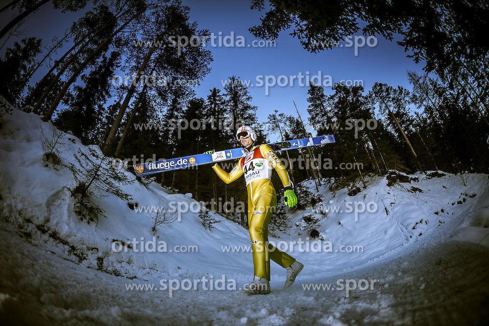 13.12.2013, Nordische Arena, Ramsau, AUT, FIS Nordische Kombination Weltcup, Skisprung Training, im Bild Sebastien Lacroix (FRA) // Sebastien Lacroix (FRA) during Ski Jumping Training of FIS Nordic Combined World Cup at the Nordic Arena in Ramsau, Austria on 2013/12/13. EXPA Pictures © 2013, EXPA/ JFK
