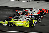 Ryan Briscoe, Mario Moraes, Ed Carpenter, Peak Antifreeze and Motor Oil Indy 300, Chicagoland Speedway, Joliet, IL USA