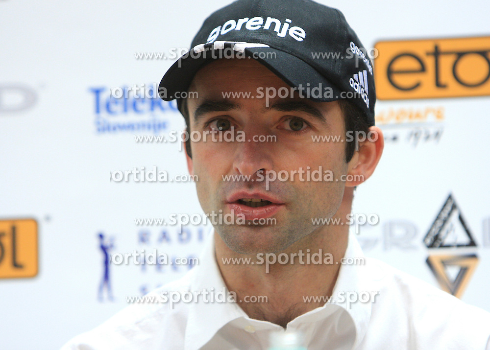 Franci Petek at press conference of Slovenian Nordic team, on December 15, 2008, in Ljubljana, Slovenia. (Photo by Vid Ponikvar / Sportida)