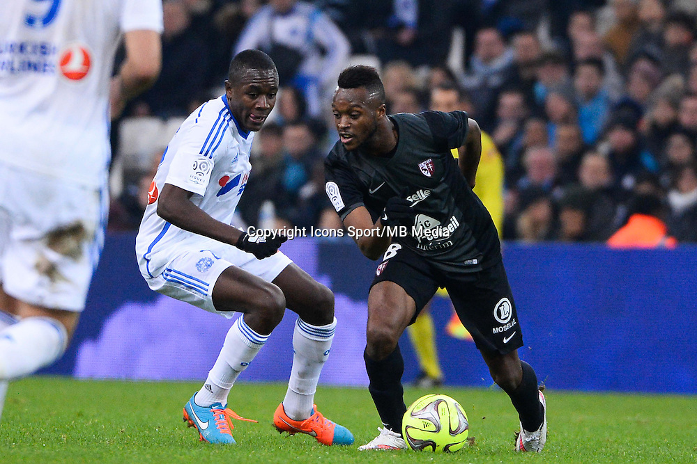 Giannelli IMBULA / Cheick DOUKOURE - 07.12.2014 - Marseille / Metz - 17eme journee de Ligue 1 -<br />