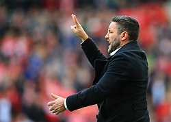 Bristol City head coach Lee Johnson shouts - Mandatory by-line: Matt McNulty/JMP - 14/04/2018 - FOOTBALL - Riverside Stadium - Middlesbrough, England - Middlesbrough v Bristol City - Sky Bet Championship