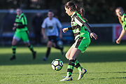 Forest Green Rovers Matt Tilley(13) on the ball during the South West Womens Premier League match between Forest Greeen Rovers Ladies and Marine Academy Plymouth LFC at Slimbridge FC, United Kingdom on 5 November 2017. Photo by Shane Healey.