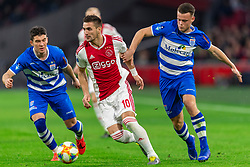 13-03-2019 NED: Ajax - PEC Zwolle, Amsterdam<br /> Ajax has booked an oppressive victory over PEC Zwolle without entertaining the public 2-1 / Pelle Clement #22 of PEC Zwolle, Dusan Tadic #10 of Ajax, Vito van Crooij #7 of PEC Zwolle