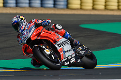 May 18, 2018 - Le Mans, France - Andrea Dovizioso (Ducati) during the practice sessions.during MotoGP Le Mans practice sessions in France  (Credit Image: © Gaetano Piazzolla/Pacific Press via ZUMA Wire)