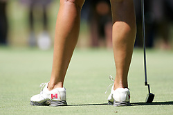 (Canberra, Australia---30 January 2011)  Jessica Shepley's shoes with a Canadian flag on them during the final round of the ActewAgl Royal Canberra Ladies golf tournament as part of the 2011 Australian Ladies Pro Golf Tour./ 2011 Copyright Sean Burges. For Australian editorial sales, contact seanburges@yahoo.com.