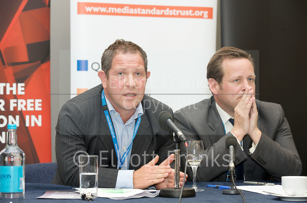 Hacked Off Campaign fringe meeting at the <br /> Conservative Party Conference <br /> Day 3<br /> 4th October 2011 <br /> <br /> Manchester Central, Great Britain <br />  <br /> Alice Thomson - Times columnist -Chair<br /> <br /> Martin Moore - co-founder Hacked-off<br /> <br /> John Kampfner (chief executive of Index on Censorship)<br /> <br /> Zac Goldsmith MP<br /> <br /> Member of Parliament<br /> for Richmond Park<br /> <br /> The Honourable<br /> Ed Vaizey <br /> MP<br /> <br /> Minister for Culture, Communications and Creative Industries<br /> <br /> Hugh Grant (actor)<br /> <br /> Photograph by Elliott Franks