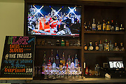 The bar at the Lot in east Dallas complete with craft beers, liquor and three televisions on Thursday, April 18, 2013. (Cooper Neill/The Dallas Morning News)