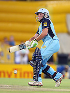 CENTURION, SOUTH AFRICA - 9  January 2009, Man of the Match Roelof van der Merwe gets sideways during the MTN Domestic Championship Semi Final match between The Nashua Titans and The Nashua Cape Cobras held at SuperSport Park, Centurion, South Africa..Photo by Barry Aldworth/SPORTZPICS