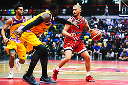Jordan Nicholls of Bristol Flyers in action as Bristol Flyers play London Lions - Rogan/JMP - 14/10/2018 - BASKETBALL - Copper Box Arena - London, England - British Basketball All-Stars Championship 2018.