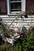 An overgrown chair at Polyface Farms in Swoope, Virginia on Monday, October 3, 2011.