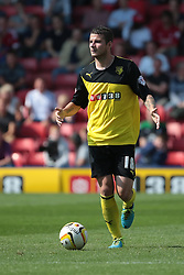 Watford's Daniel Pudil  - Photo mandatory by-line: Nigel Pitts-Drake/JMP - Tel: Mobile: 07966 386802 25/08/2013 - SPORT - FOOTBALL -Vicarage Road Stadium - Watford -  Watford v Nottingham Forest - Sky Bet Championship