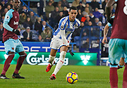 Huddersfield Town's Thomas Ince during the Premier League match between Huddersfield Town and West Ham United at the John Smiths Stadium, Huddersfield, England on 13 January 2018. Photo by Paul Thompson.