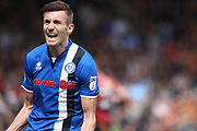 GOAL Matthew Lund celebrates equalising for Rochdale during the EFL Sky Bet League 1 match between Rochdale and Bradford City at Spotland, Rochdale, England on 30 April 2017. Photo by Daniel Youngs.