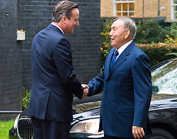 November 3rd 2015, Downing Street, London. British Prime Minister David Cameron welcomes the President of Kazakhstan Nursultan Nazarbayev to 10 Downing Street.  // Licencing Contact: paul@pauldaveycreative.co.uk Mobile 07966 016 296