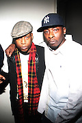 """l to r: Talib Kweli and Pete Rock at BlackSmith Presents """" The Night before the Night before Christmas Produced by Jill Newman Productions held at Highline Ballroom on December 23, 2009 in New York City."""