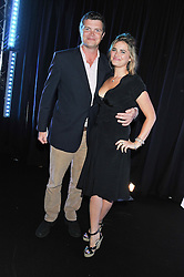 JACK KIDD and CALLIE MOORE at a party to celebrate the launch of the new 2&8 club at Morton's Berkeley Square, London on 27th September 2012.