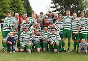 Fintry Shamrock celebrate after winning the 2nd Division  - Dundee Saturday Morning FA - Super Saturday at Dundee UNI<br /> <br />  - &copy; David Young - www.davidyoungphoto.co.uk - email: davidyoungphoto@gmail.com