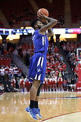 20 January 2017:  Demonte Ojinnaka during an NCAA Missouri Valley Conference mens basketball game Where the Purple Aces of Evansville lost to the Illinois State Redbirds 75-73 in Redbird Arena, Normal IL