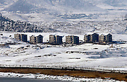 The snow-covered North Korean village of Gijungdong is seen in this picture taken from a South Korean observation post, just south of the demilitarized zone separating the two Koreas, in Paju, north of Seoul. Photo by Lee Jae-Won (SOUTH KOREA) www.leejaewonpix.com/