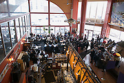 Dozens gathered for a rally at Spot Coffee, organized by Rochester Circle for Peace, in Rochester on Sunday, January 8, 2017.