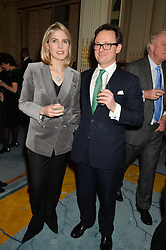 VISCOUNT & VISCOUNTESS DUNLUCE at a party to celebrate the publication of The Romanovs 1613-1918 by Simon Sebag-Montefiore held at The Mandarin Oriental, 66 Knightsbridge, London on 2nd February 2016.
