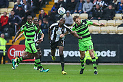 Forest Green Rovers Mark Roberts(21) heads the ball clear during the EFL Sky Bet League 2 match between Notts County and Forest Green Rovers at Meadow Lane, Nottingham, England on 7 October 2017. Photo by Shane Healey.