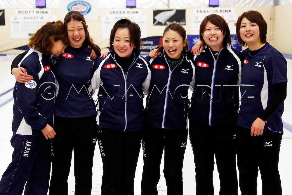 Japan, women's team, Coach Hatomi NAGAOKA and from left Emi SHIMIZU,  Satsuki FUJISAWA, Miyo ICHIKAWA, Miyuki SATOH, Chiaki MATSUMURA