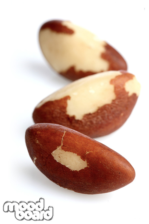Brazilian nut on white background