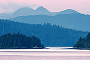 Queen Charlotte Mountains (Insular Mountains). Pacific Ocean. Graham Island. SKidegate. , Haida Gwaii (formerly the Queen Charlotte Islands), British Columbia, Canada