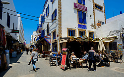 Cafe Le Glacier in the modern medina in Essaouira, Morocco<br /> <br /> (c) Andrew Wilson | Edinburgh Elite media