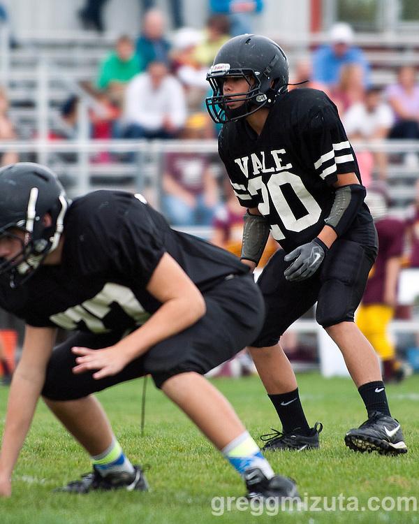 Vale vs Nampa Christian 8th grade football on October 14, 2014 at Nampa Christian Elementary School, Nampa, Idaho.