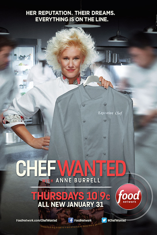 Advertising Image of Food Network Celebrity Chef Anne Burrell by Michel Leroy PHOTOGRAPHER