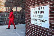 A voter heads out of the John A. Shelburne Recreation Center polling place in Roxbury, MA, Super Tuesday, March 1, 2016.  CREDIT: Cheryl Senter for The New York Times