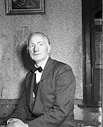 07/11/1957 <br /> 11/7/1957<br /> 07 November 1957<br /> <br /> Special for Daily Express - Election Candidates - Mr Frank Sherwin, Independent Candidate for Dublin North East.  He won the seat and sat for eight years as TD for Dublin North Central, from 1957–1965.