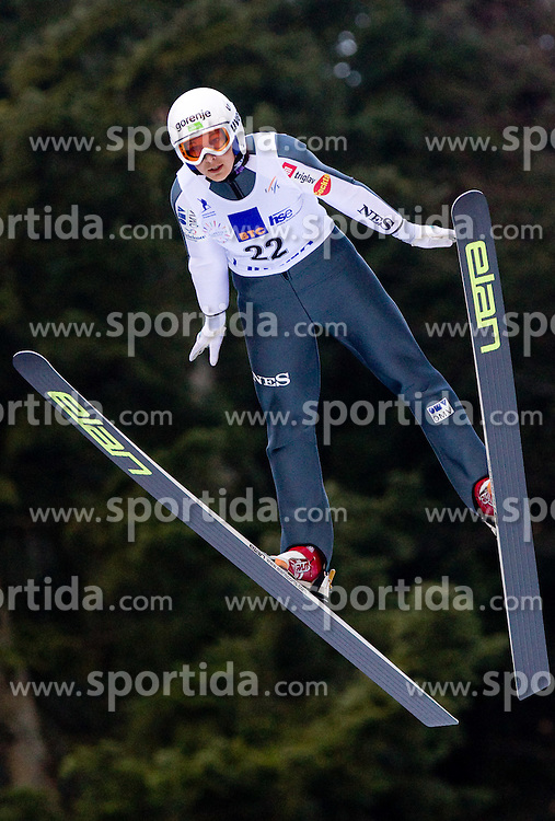Anja Tepes of Slovenia competes during FIS Continental Cup Ski Jumping Ladies in Ljubno, on January 23, 2011, at K-85 in Ljubno ob Savinji, Slovenia. (Photo By Vid Ponikvar / Sportida.com)