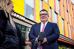 © Licensed to London News Pictures. 28/01/2017. London, UK. Labour Party deputy leader TOM WATSON gives a TV interview at Co-operative Party economy conference outside Coin Street Neighbourhood Centre in London on Saturday, 28 January 2017. Photo credit: Tolga Akmen/LNP