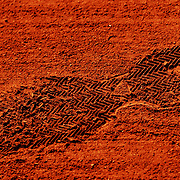 02.06.2018 ITF French Open Tennis Roland-Garros Paris <br /> Footprint on the clay court during play Day 6