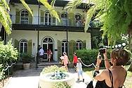 Key West, Florida.  Ernest Hemingway House.