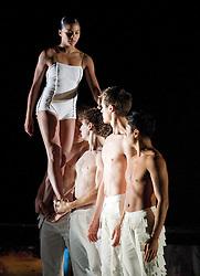 Rambert Dance Company <br /> Labyrinth of Love by <br /> Marguerite Donlon <br /> <br /> at Sadler's Wells, London, Great Britain <br /> <br /> press photocall<br /> <br /> 16th October 2012 <br /> <br /> Miguel Altunaga<br /> Eryck Brahmania<br /> Otis Cameron Carr<br /> Antonette Dayrit<br /> Julia Gillespie<br /> Robin Gladwin<br /> Dane Hurst<br /> Estela Merlos<br /> Mbuelo Ndabeni<br /> Adam Park <br /> Hannah Rudd <br /> Jon Savage<br /> Pieter Symonds<br /> Stephen Wright <br /> <br /> Soprano <br /> Kirsty Hopkins<br /> <br /> Photograph by Elliott Franks