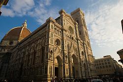 Basilica di Santa Maria del Fiore / Florence Cathedral (Duomo) next to Giotto's belltower (campanile) Florence / Firenze, Italy / Italia December 2, 2007.