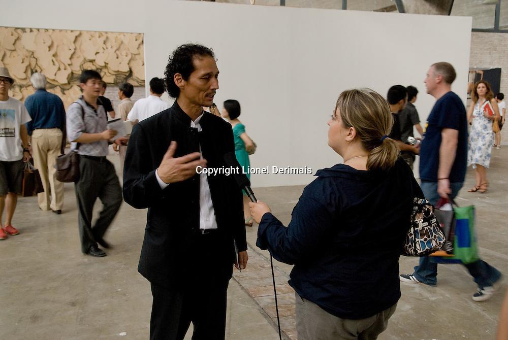 Opening ceremony and day of the Beijing Biennale 2009 in Dashanzi, Beijing.