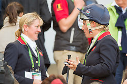 Zara Philips, (GBR), Kristina Cook - Jumping Eventing - Alltech FEI World Equestrian Games™ 2014 - Normandy, France.<br /> © Hippo Foto Team - Jon Stroud<br /> 31-08-14