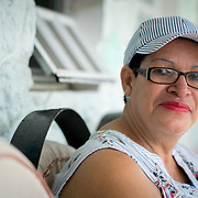 AUGUST 27, 2018--VIEQUES---PUERTO RICO--<br /> Diane Serrano, a cancer patient from Vieques and VER community member, in her front porch. Serrano has to deal with the hardship of traveling to San Juan by boat for chemotherapy.<br /> (Photo by Angel Valentin/Freelance)