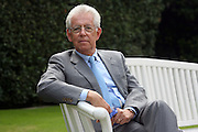 Mario Monti, President of Bocconi University, poses at Ambrosetti Workshop in Cernobbio, September 2, 2011. © Carlo Cerchioli
