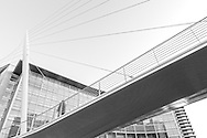This striking footbridge takes you across the River Irwell from Manchester City Centre to Salford. It was designed by Spanish architect, Santiago Calatrava and was completed in 1995. It was one of Calatrava's earliest bridge works and remains the only project he has completed in the United Kingdom.