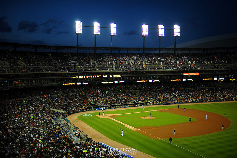 Comerica Park home to the Detroit Tigers in Detroit, Michigan. Melanie Maxwell